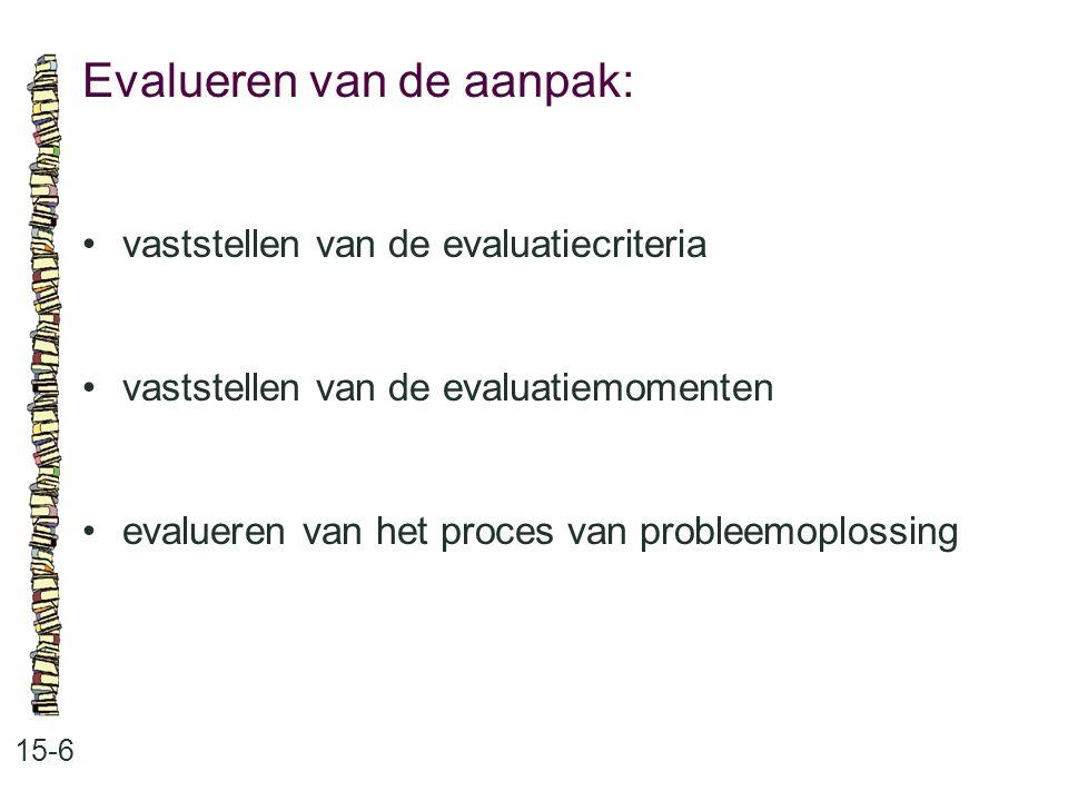 Evalueren van de aanpak: