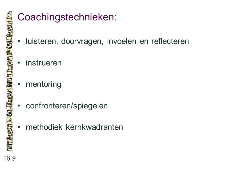 Coachingstechnieken:
