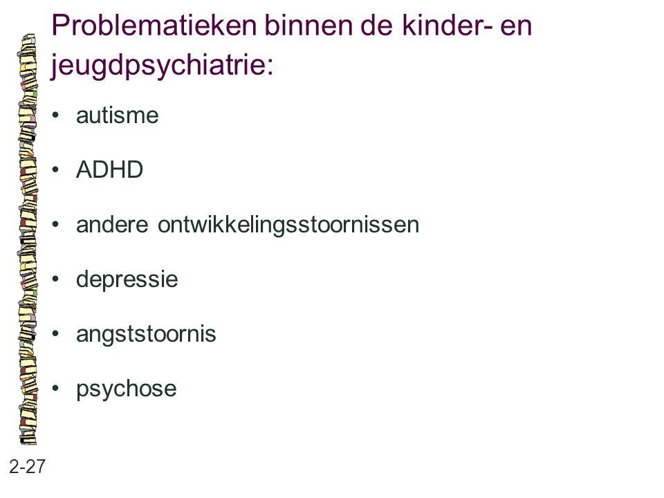 Problematieken binnen de kinder- en jeugdpsychiatrie: