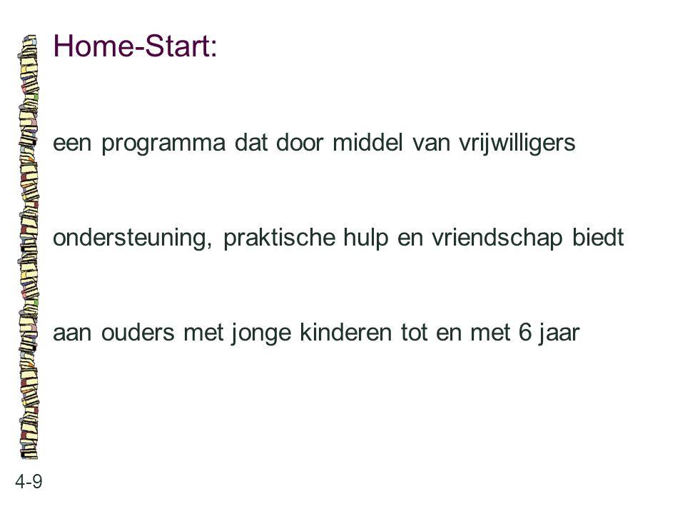 Home-Start: een programma dat door middel van vrijwilligers