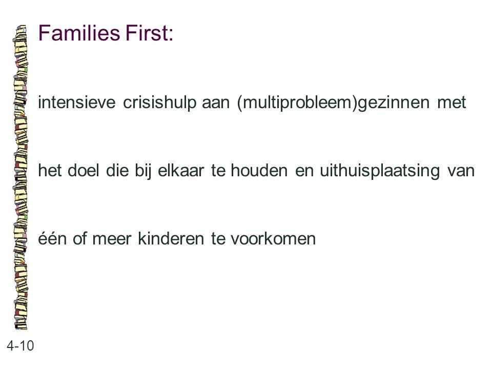 Families First: intensieve crisishulp aan (multiprobleem)gezinnen met