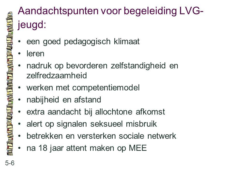 Aandachtspunten voor begeleiding LVG-jeugd: