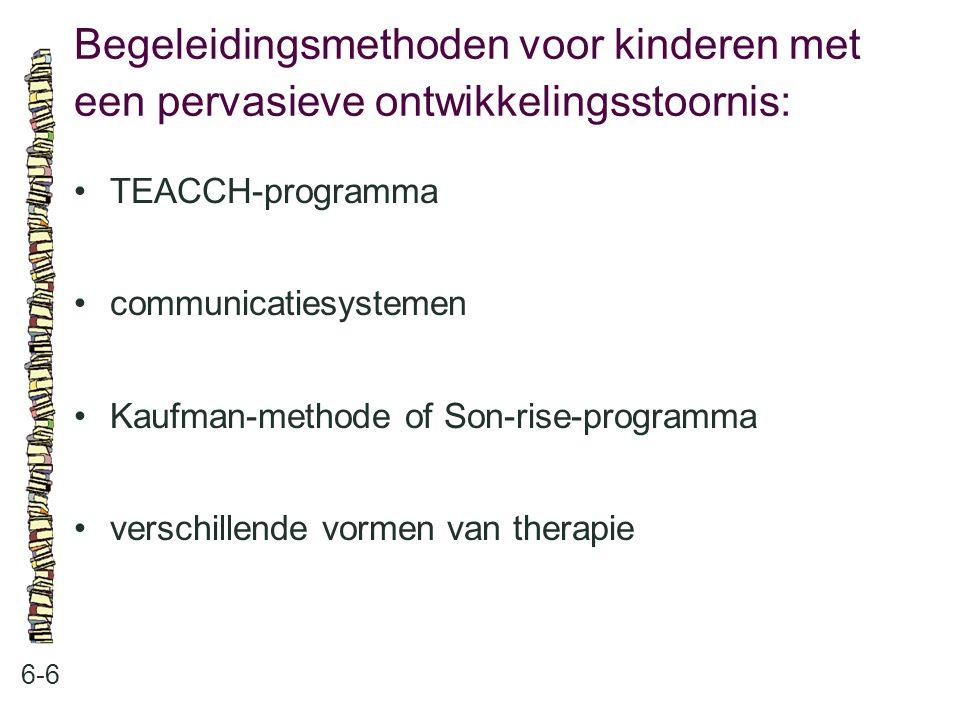 Begeleidingsmethoden voor kinderen met een pervasieve ontwikkelingsstoornis: