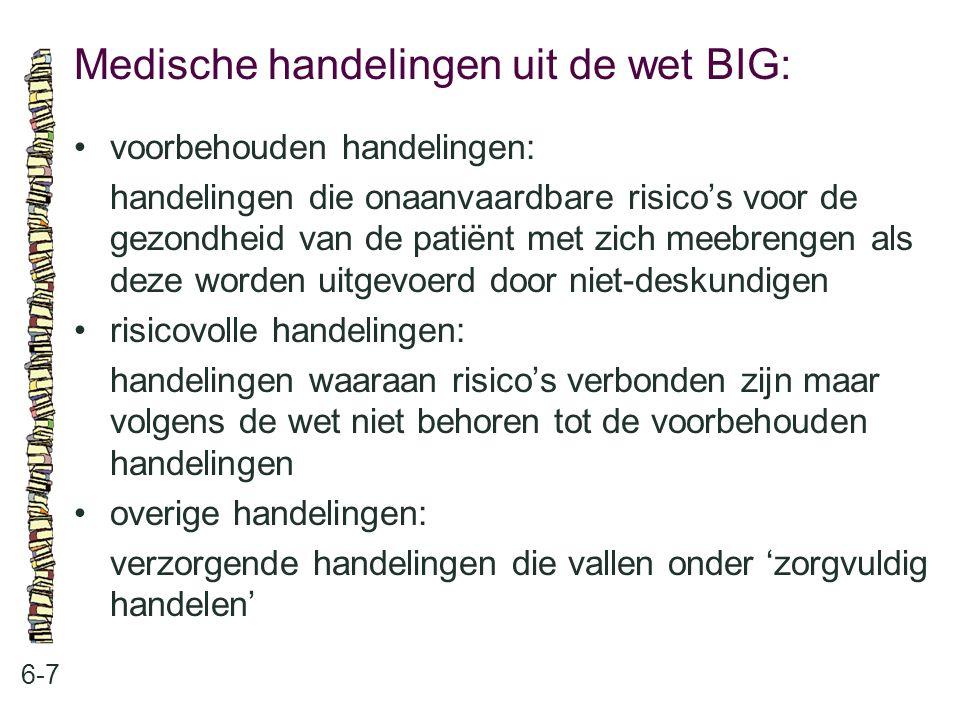 Medische handelingen uit de wet BIG:
