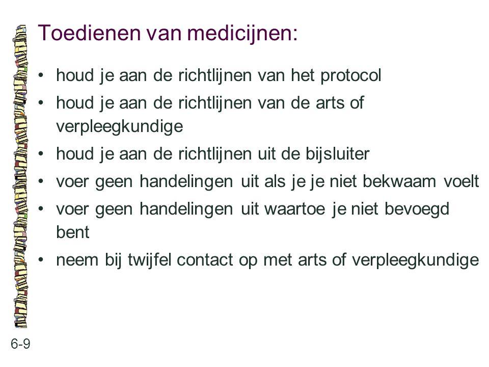 Toedienen van medicijnen:
