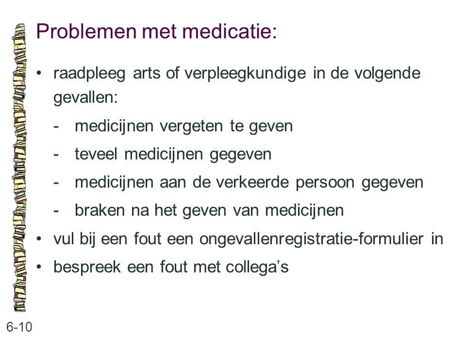 Problemen met medicatie: