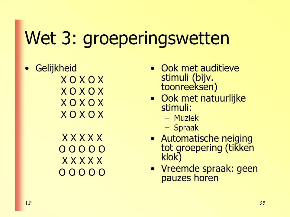 Wet 3: groeperingswetten