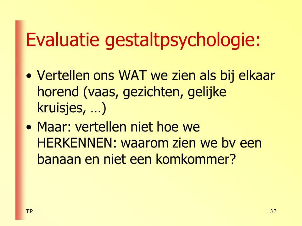 Evaluatie gestaltpsychologie: