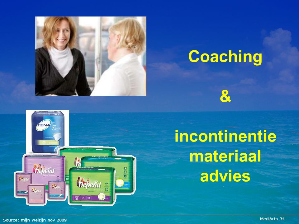 Coaching & incontinentie materiaal advies