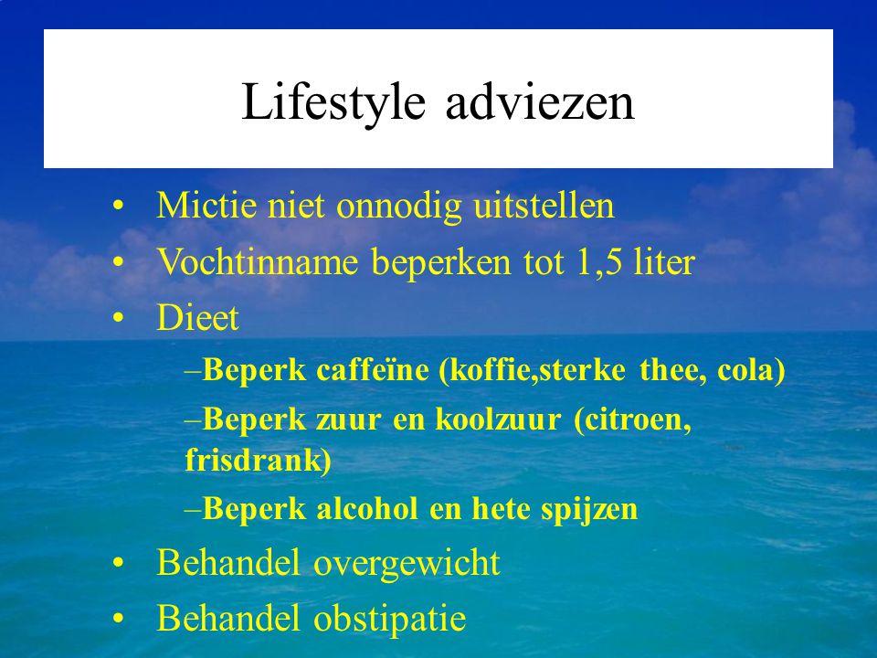 Lifestyle adviezen Mictie niet onnodig uitstellen
