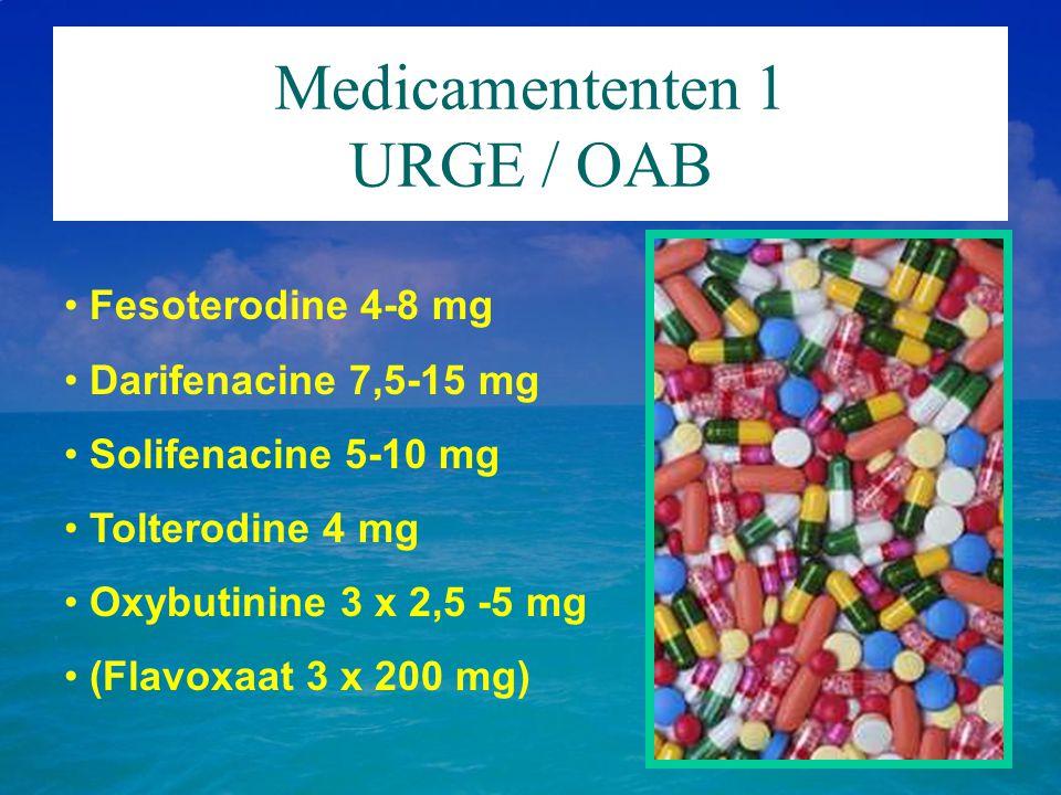 Medicamententen 1 URGE / OAB