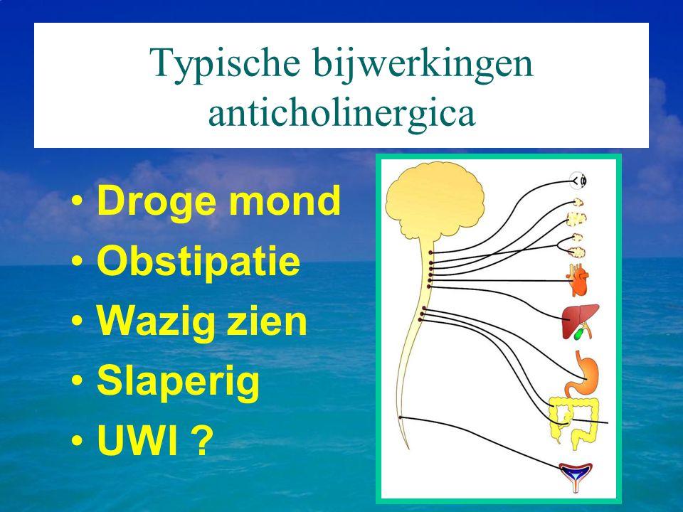 Typische bijwerkingen anticholinergica