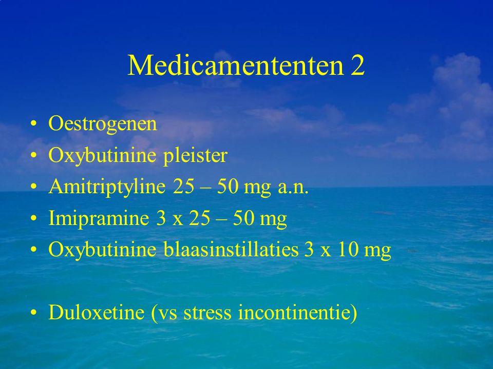 Medicamententen 2 Oestrogenen Oxybutinine pleister