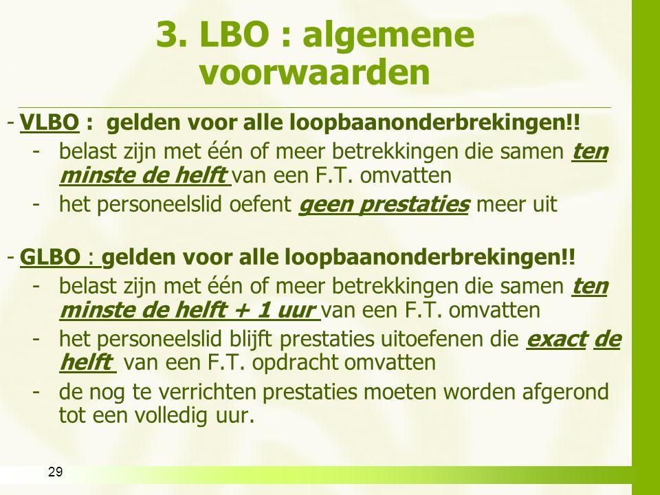 3. LBO : algemene voorwaarden
