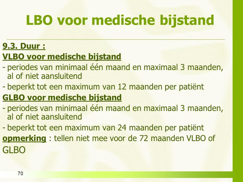 LBO voor medische bijstand