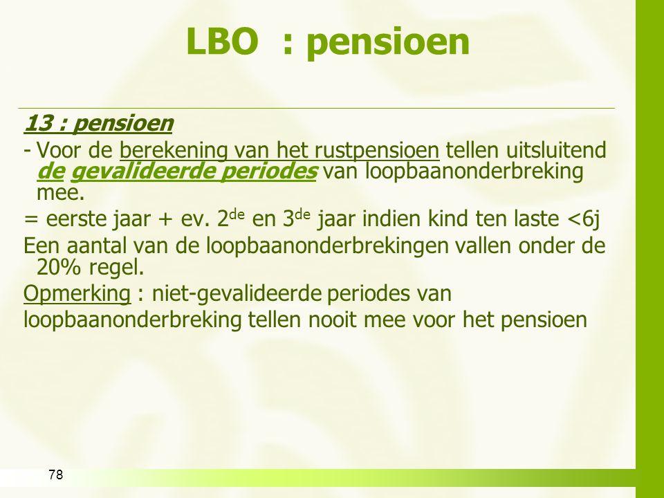 LBO : pensioen 13 : pensioen