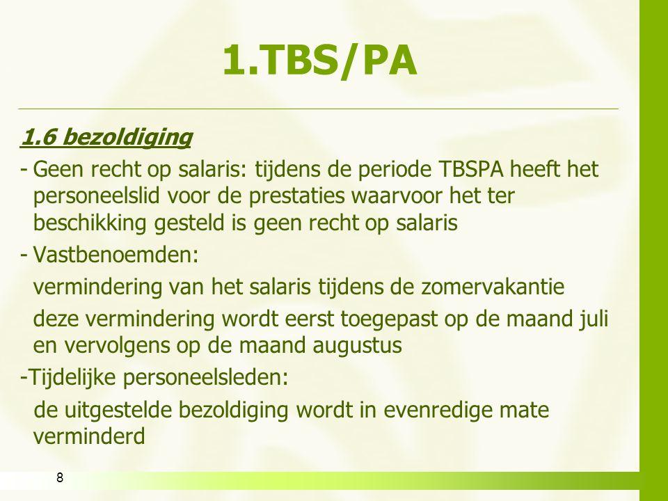 1.TBS/PA 1.6 bezoldiging.