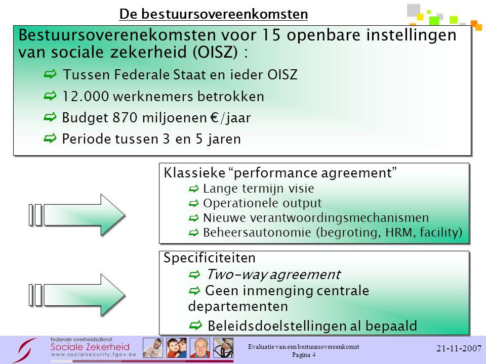 De bestuursovereenkomsten