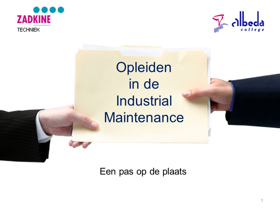 Opleiden in de Industrial Maintenance