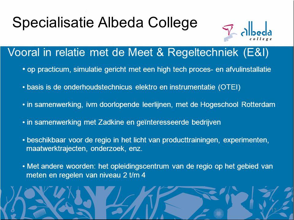 Specialisatie Albeda College