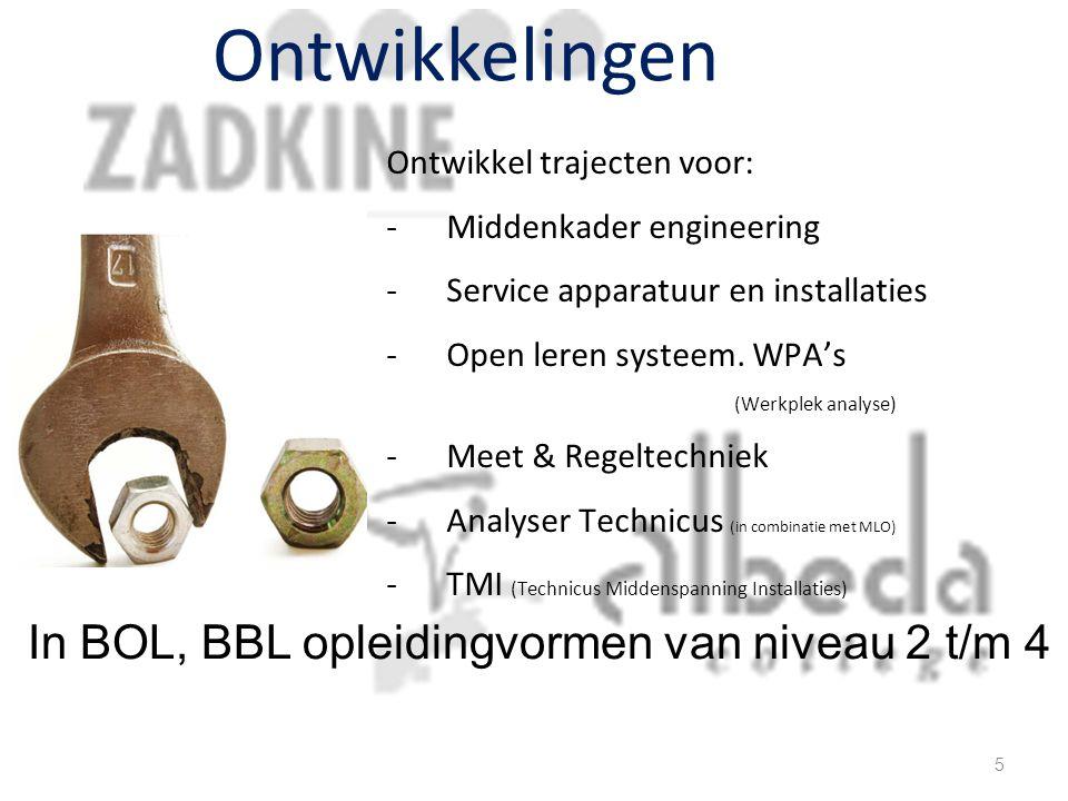 Ontwikkelingen In BOL, BBL opleidingvormen van niveau 2 t/m 4