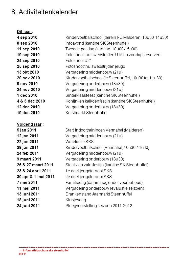 8. Activiteitenkalender