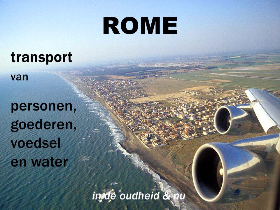 ROME transport personen, goederen,voedsel en water van