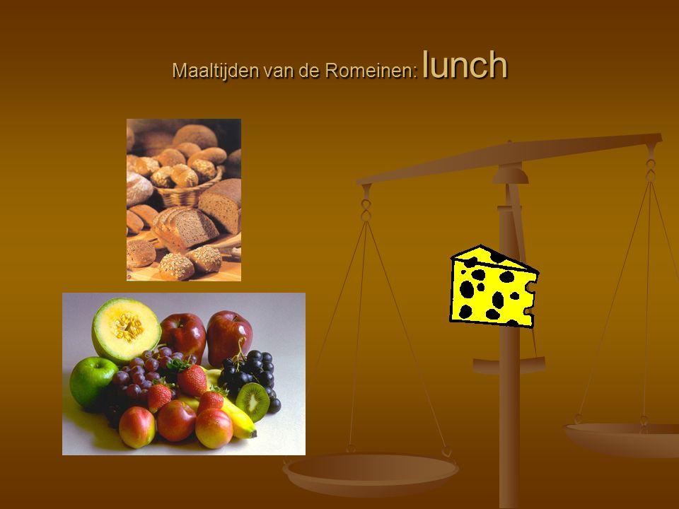 Maaltijden van de Romeinen: lunch
