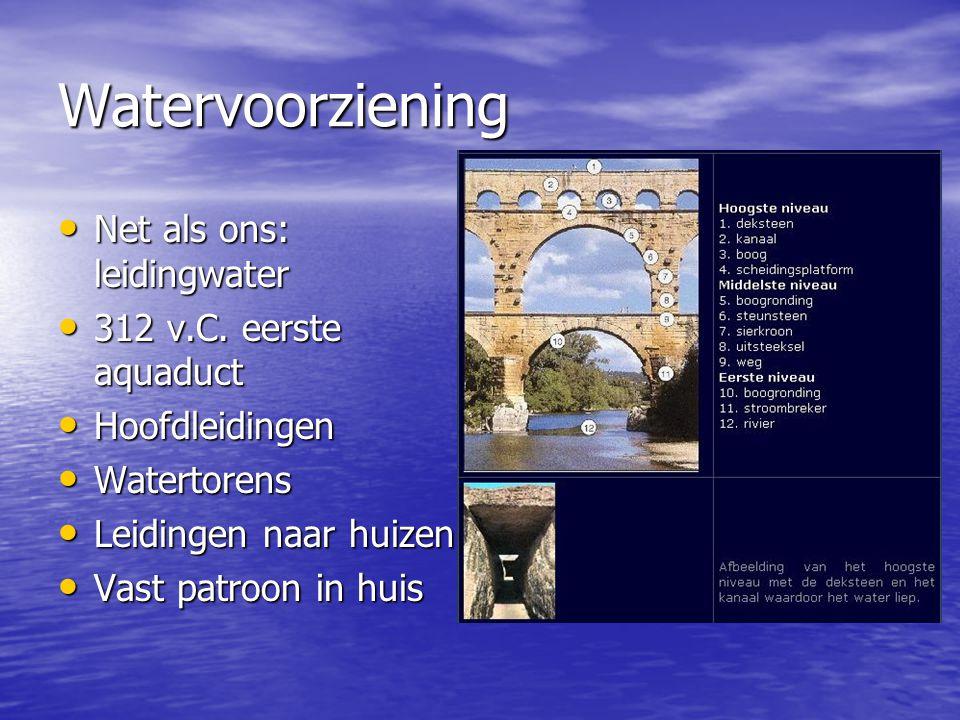 Watervoorziening Net als ons: leidingwater 312 v.C. eerste aquaduct