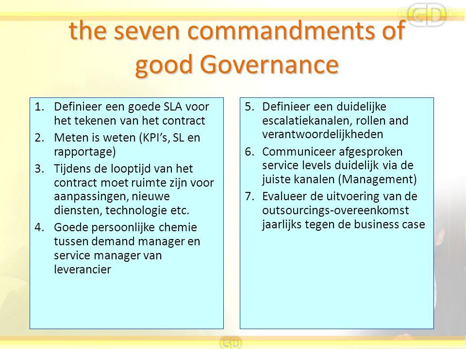 the seven commandments of good Governance