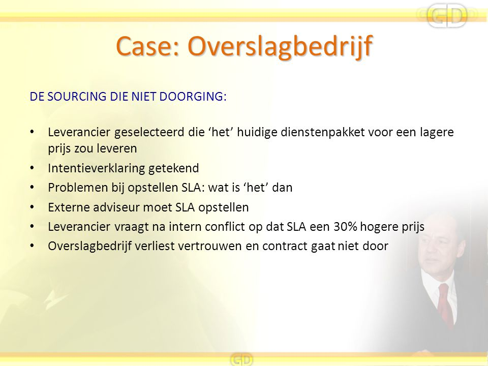 Case: Overslagbedrijf