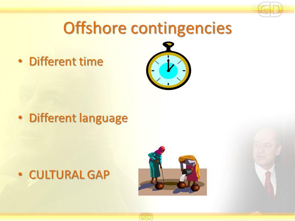 Offshore contingencies