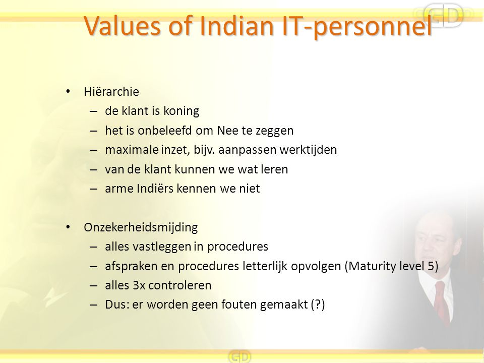 Values of Indian IT-personnel