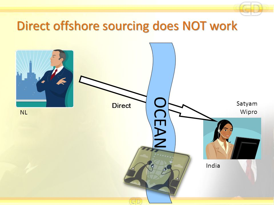 Direct offshore sourcing does NOT work