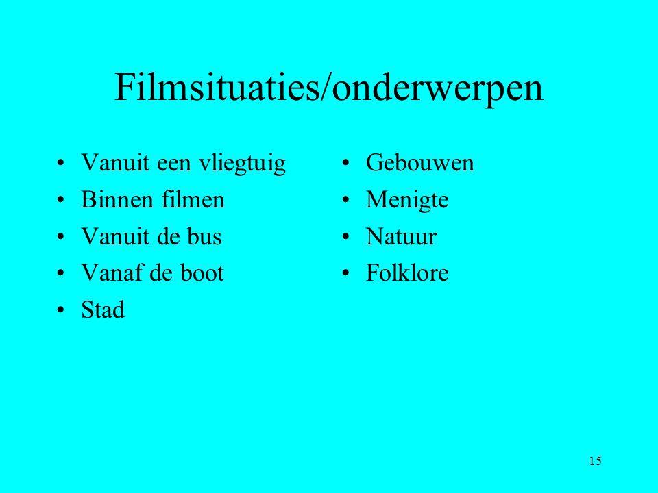 Filmsituaties/onderwerpen