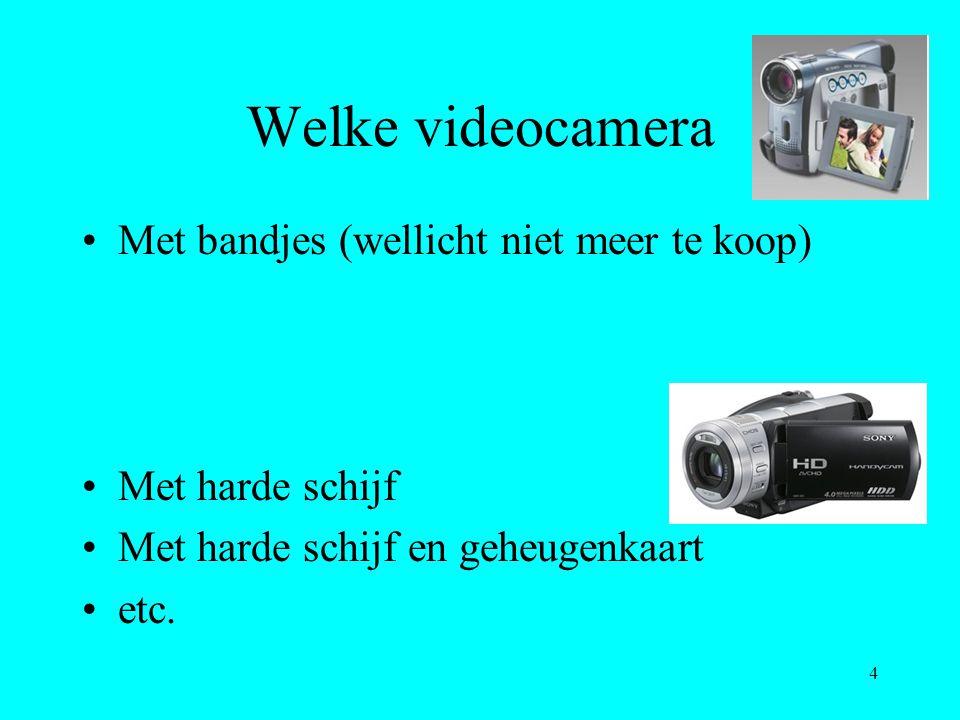 Welke videocamera Met bandjes (wellicht niet meer te koop)