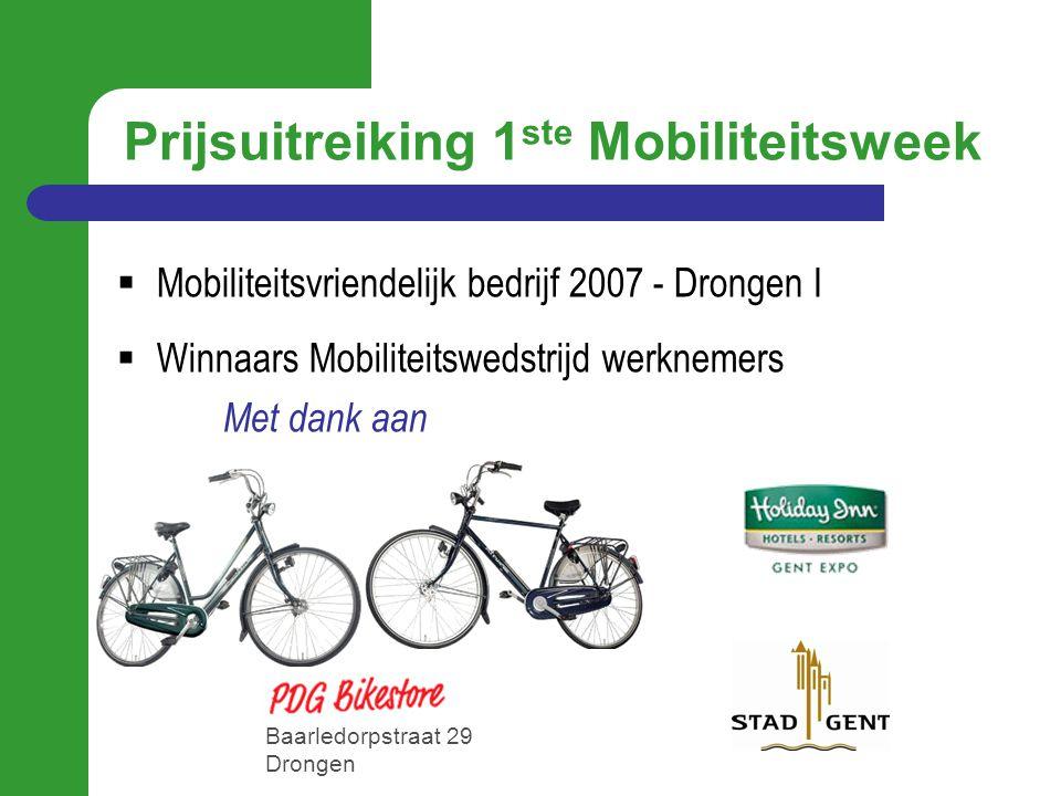 Prijsuitreiking 1ste Mobiliteitsweek