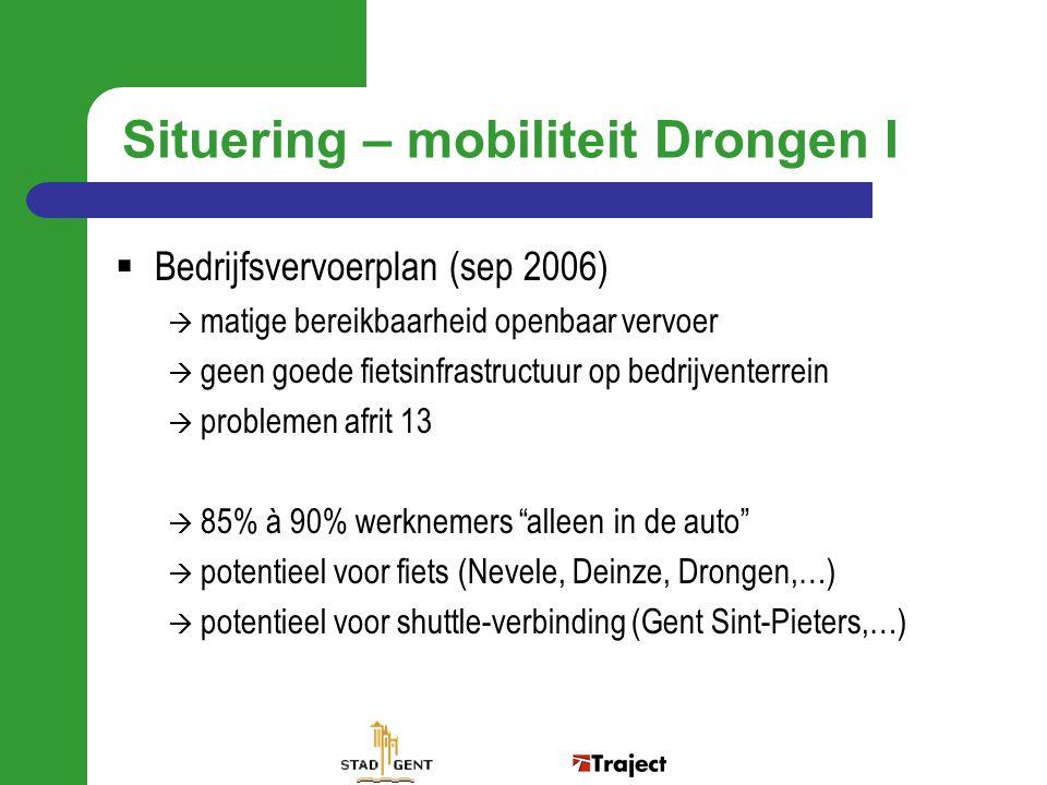 Situering – mobiliteit Drongen I