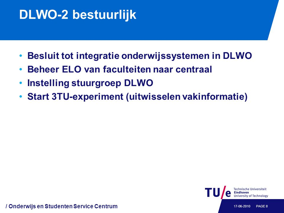 DLWO-3 (2011): Functionele integratie