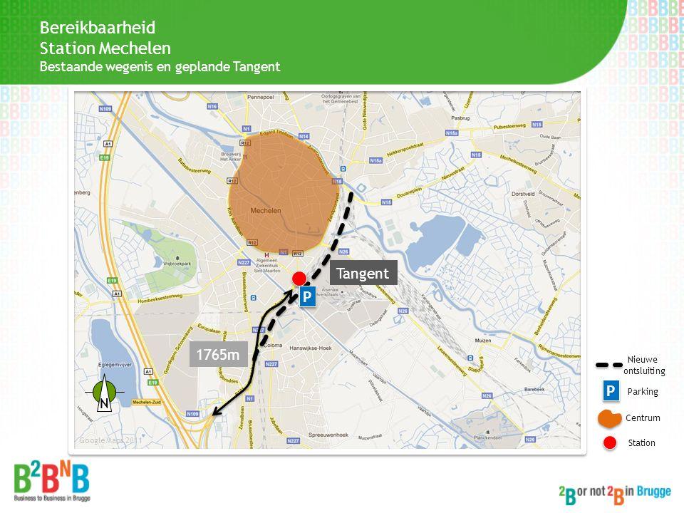 Bereikbaarheid Station Mechelen Tangent P 1765m P