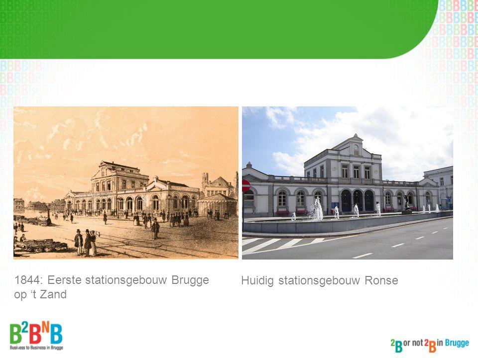 1844: Eerste stationsgebouw Brugge op 't Zand