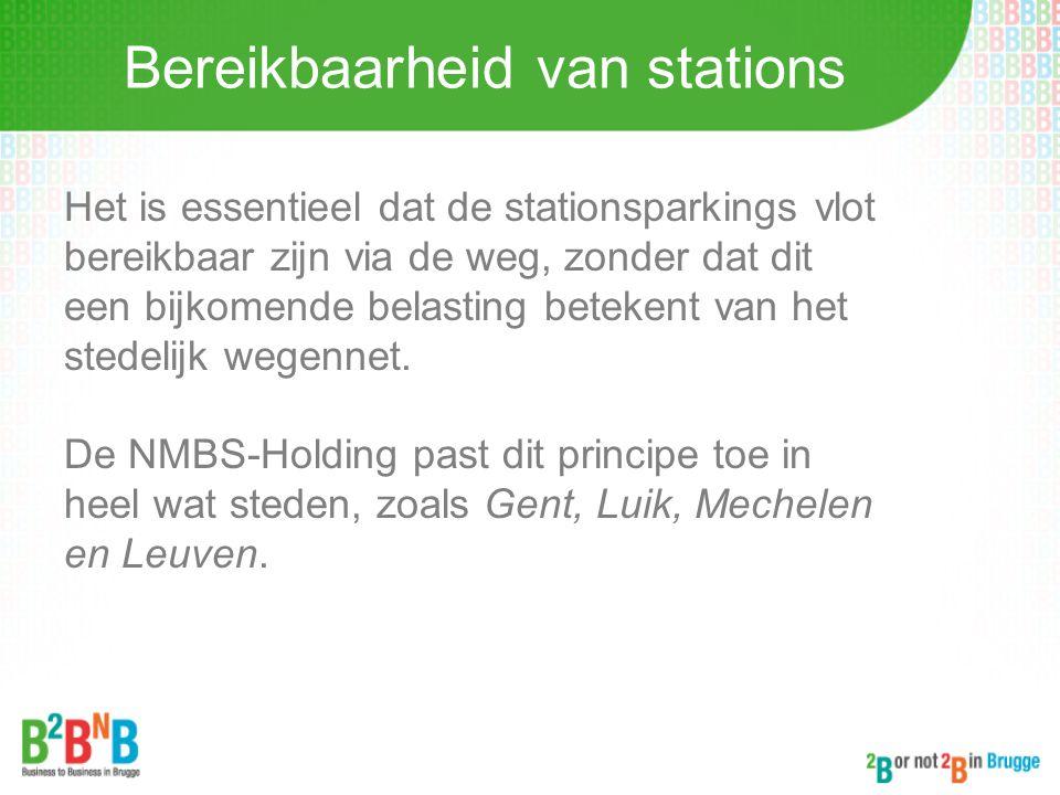 Bereikbaarheid van stations
