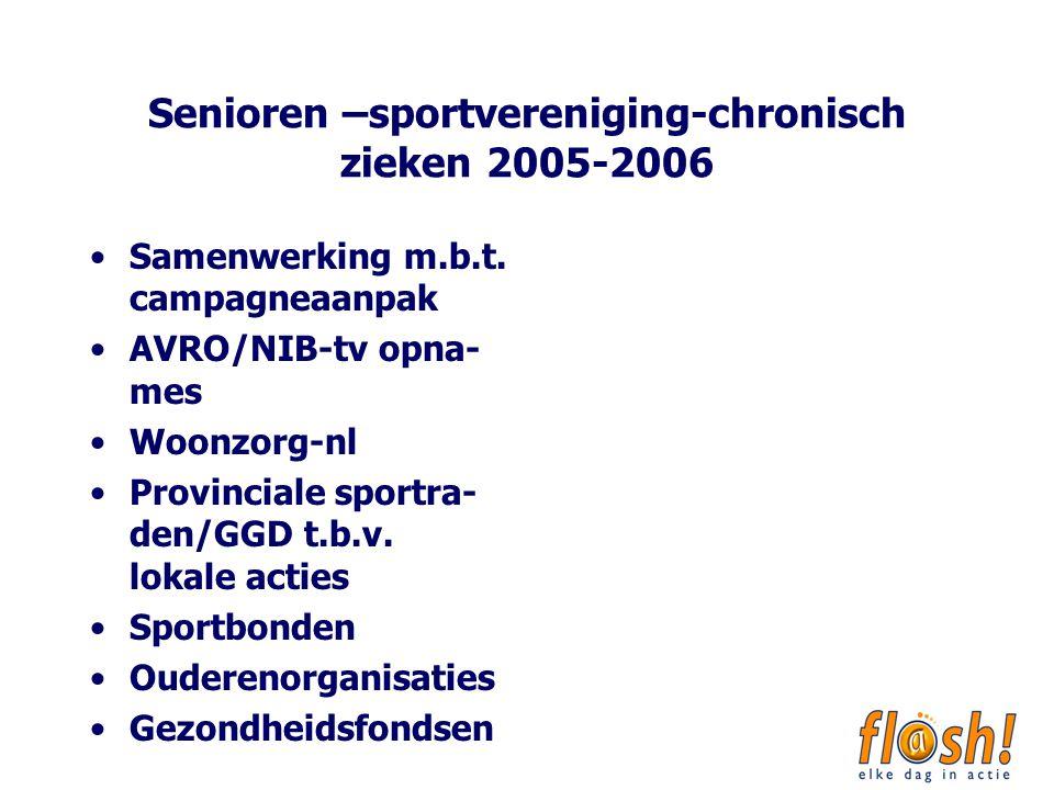 Senioren –sportvereniging-chronisch zieken 2005-2006