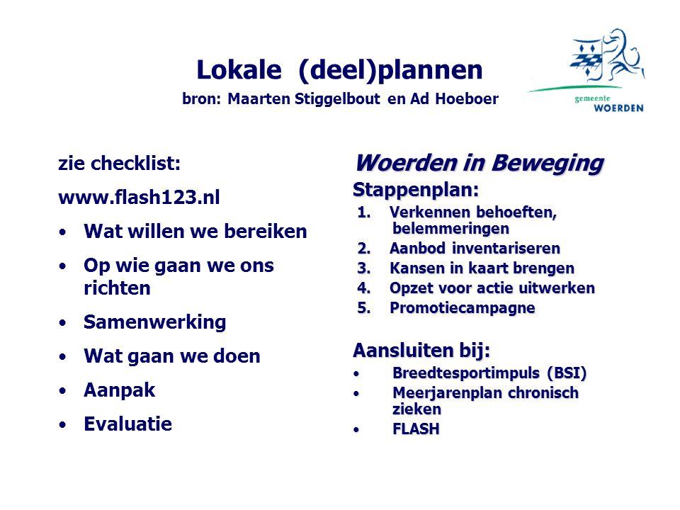 Lokale (deel)plannen bron: Maarten Stiggelbout en Ad Hoeboer