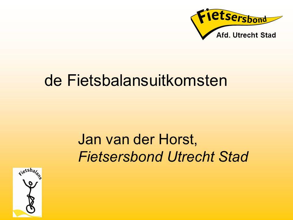 Jan van der Horst, Fietsersbond Utrecht Stad
