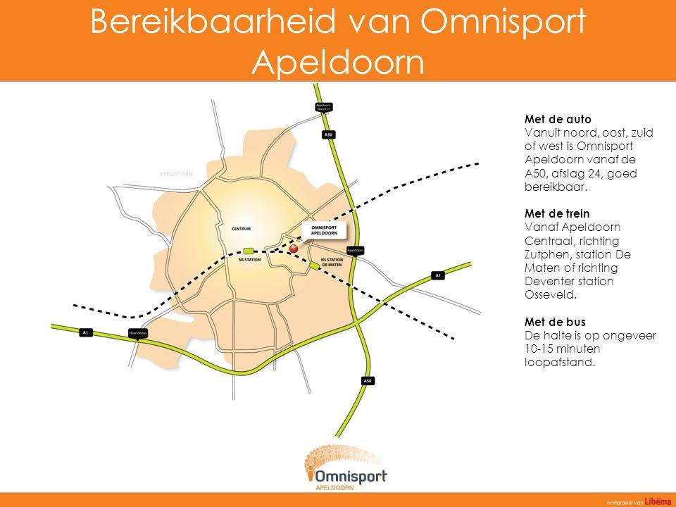 Bereikbaarheid van Omnisport Apeldoorn
