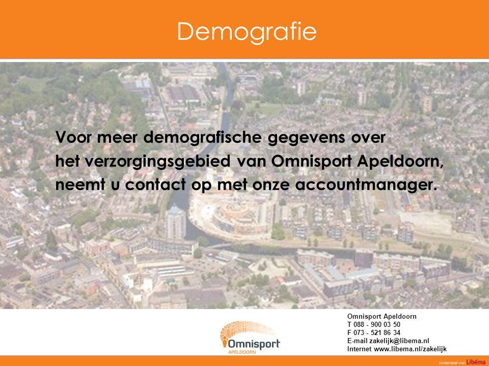 Demografie Voor meer demografische gegevens over