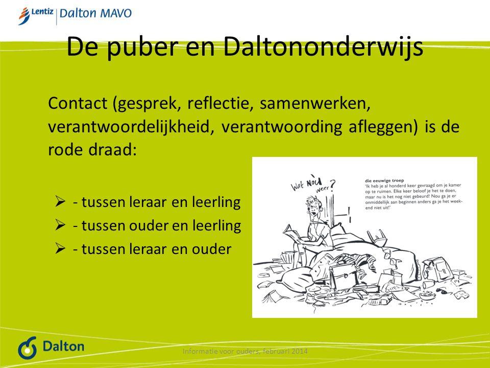 De puber en Daltononderwijs