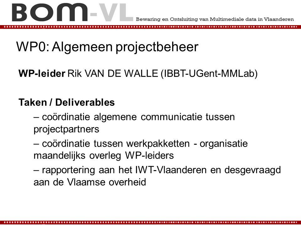 WP0: Algemeen projectbeheer