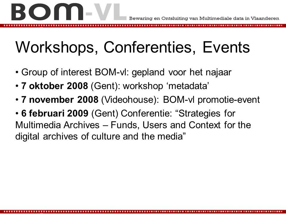 Workshops, Conferenties, Events